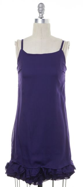 ALICE + OLIVIA Purple Silk Sheath Dress
