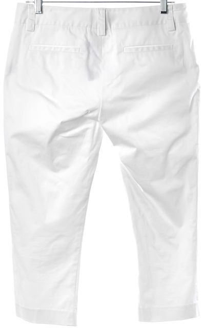 ALICE + OLIVIA White Stretch Cotton Summer Capris Cropped Pants