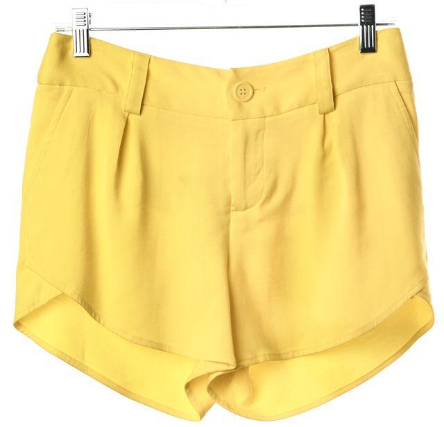 ALICE + OLIVIA Lemon Yellow Summer Casual Shorts