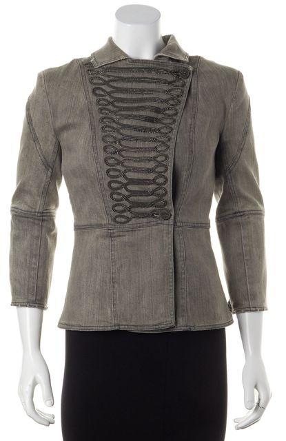 ALICE + OLIVIA Gray Military Jacket