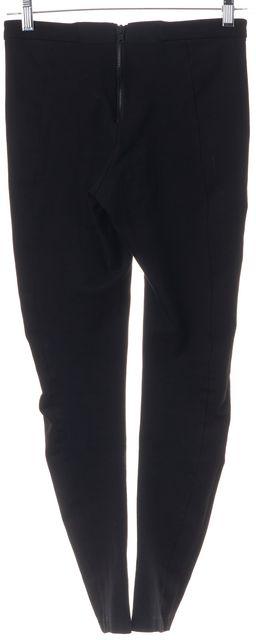 ALICE + OLIVIA Black Zip Back Panel Leggings