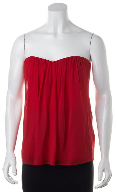 ALICE + OLIVIA Red Strapless Top