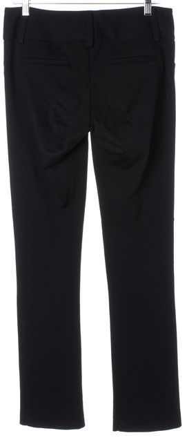 ALICE + OLIVIA Black Stretch Ponte Jersey Trousers Pants