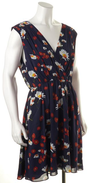 ALICE + OLIVIA Purple Floral Silk Sundress