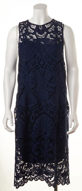 ALICE + OLIVIA Navy Blue Lace Blouse Top