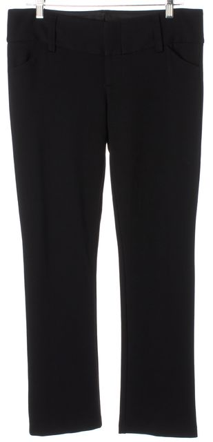 ALICE + OLIVIA Black Stretch Ponte Jersey Slim Trousers Pants