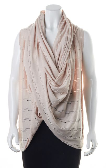 ALICE + OLIVIA Pink Distressed Wool Knit Vest