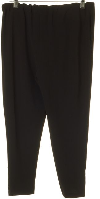 ALICE + OLIVIA Black Zip Hem Dress Pants