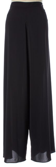 ALICE + OLIVIA Black Wide Leg Semi Sheer Trouser Dress Pants
