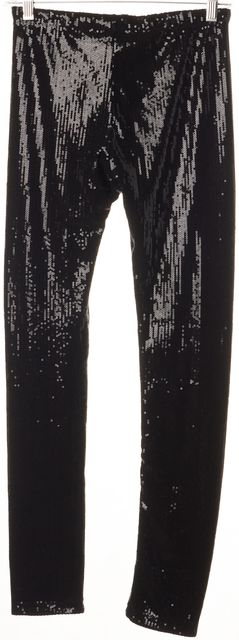 ALICE + OLIVIA Black Sequin Leggings