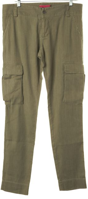 ALICE + OLIVIA Green Cargo Pants
