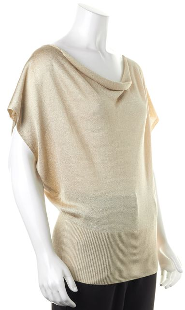 ALICE + OLIVIA Gold Batwing Sleeve Blouse Top