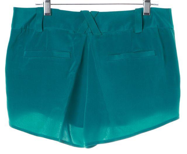 ALICE + OLIVIA Teal Blue Silk Dress Shorts