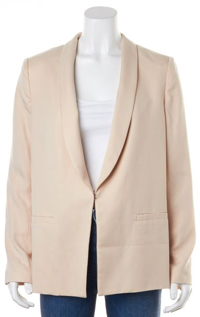 ALICE + OLIVIA Pale Brush Pink Tencel Casual Blazer
