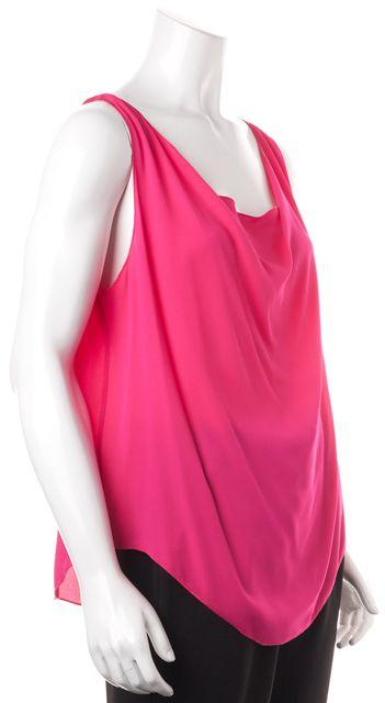 ALICE + OLIVIA Neon Pink Silk Sleeveless Blouse Top