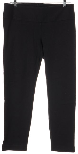 ALICE + OLIVIA Black Polyester Blend Cropped Leggings