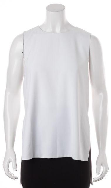 ALICE + OLIVIA White Sleeveless Faux Layered Blouse Top