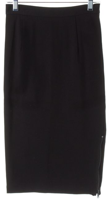 ALICE + OLIVIA Black Stretch Jersey Pencil Skirt