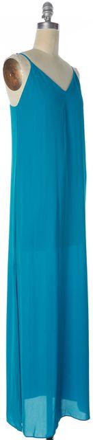 ALICE + OLIVIA Turquoise Blue Spaghetti Strap Maxi Dress