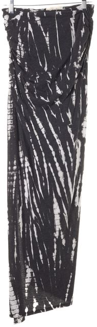 ALICE + OLIVIA Gray White Tie Dye Stretch Knit Maxi Skirt