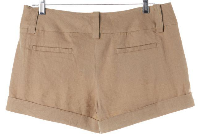 ALICE + OLIVIA Beige Linen Khaki Chino Cuffed Shorts