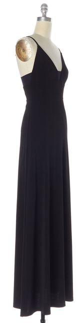 ALICE + OLIVIA Black Spaghetti Strap Empire Waist Maxi Dress