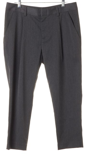 ALICE + OLIVIA Gray Cropped Trouser Dress Pants