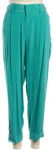ALICE + OLIVIA Teal Cuffed Dress Pants