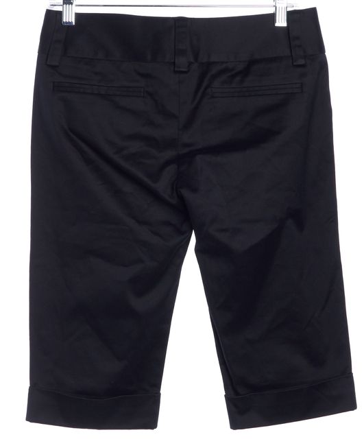 ALICE + OLIVIA Black Bermuda Shorts