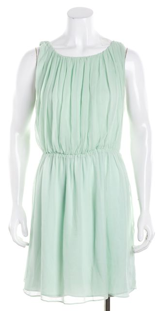ALICE + OLIVIA Light Mint Green Cinched Waist Blouson Dress