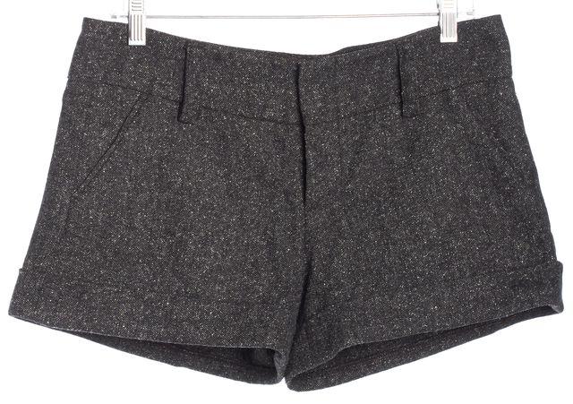 ALICE + OLIVIA Gray Marled Tweed Wool Shorts