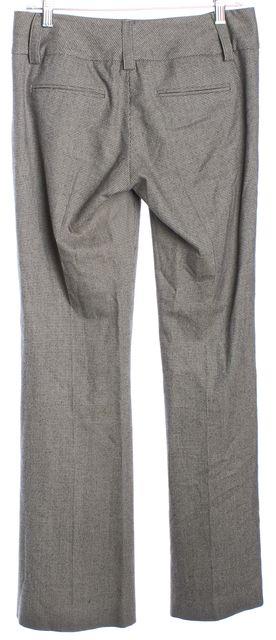 ALICE + OLIVIA Brown Beige Herringbone Wool Wide Leg Trousers Pants