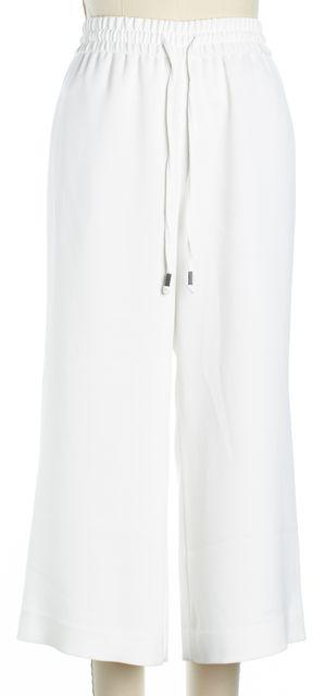 ALICE + OLIVIA White Straight Leg Capri Casual Pants