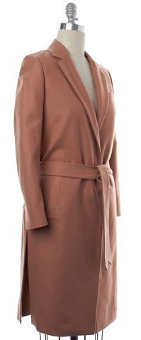ALL SAINTS Salmon Pink Wool Single Button Belted Taro Nesi Coat Size 2