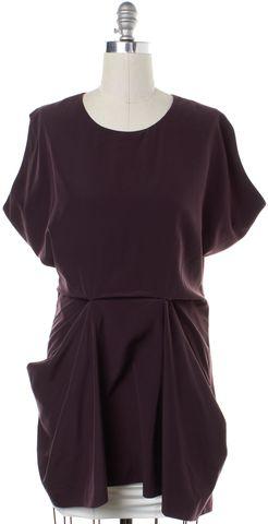 ALLSAINTS ALL SAINTS Burgundy Red Saelde Sheath Dress