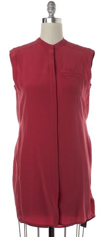 ALLSAINTS ALL SAINTS Red Silk Luna Shirt Dress