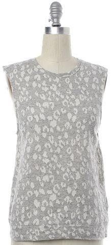 ALLSAINTS ALL SAINTS Gray Leopard Print Yosa Sleeveless Sweater