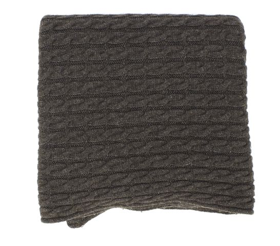 ALL SAINTS Brown Gray Infinity Wool Knit Scarf