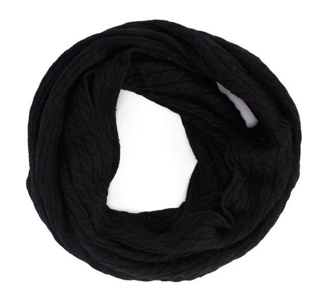 ALLSAINTS ALL SAINTS Black Infinity Knit Scarf