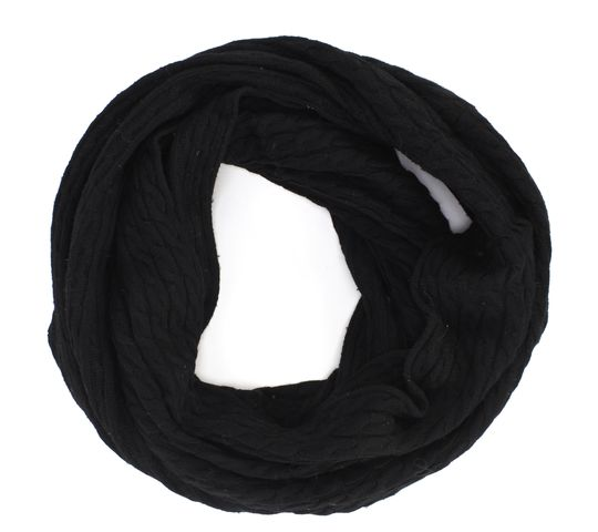 ALL SAINTS Black Infinity Knit Scarf