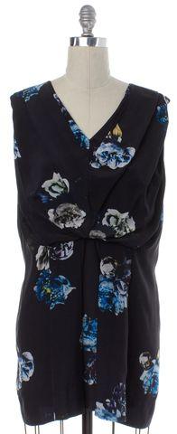 ALLSAINTS ALL SAINTS Black Multi Color Floral Print Silk Blouson Dress