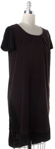 ALLSAINTS ALL SAINTS Burgundy Black Asymmetrical Hem Shirt Dress