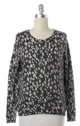 ALLSAINTS ALL SAINTS Gray Leopard Print Knit Top