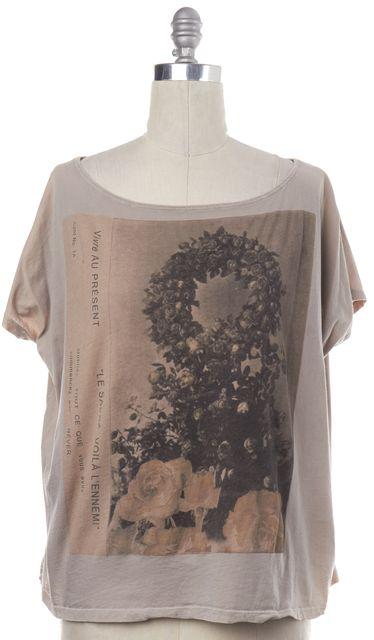 ALLSAINTS Beige Graphic T-Shirt