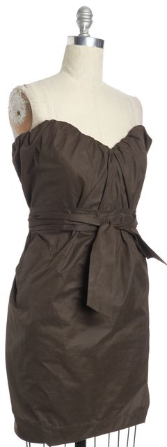 ALLSAINTS Brown Jessamine Corset Sheath Dress