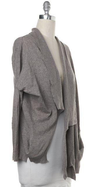 ALLSAINTS Gray Long Sleeve Front Open Asymmetrical Cardigan