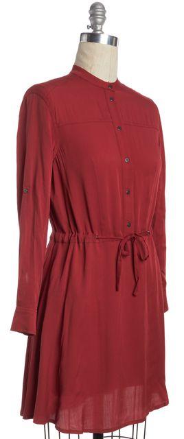 ALLSAINTS Red Sanko Shirt Dress