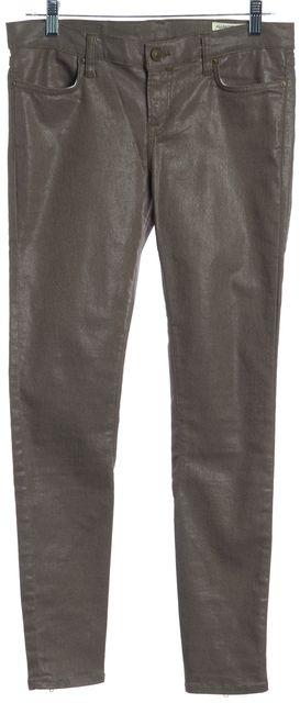 ALLSAINTS Bronze Coated Spitalfields Jack's Place Skinny Jeans