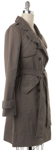 ALLSAINTS Taupe Brown Ophelia Double Breasted Trench Jacket