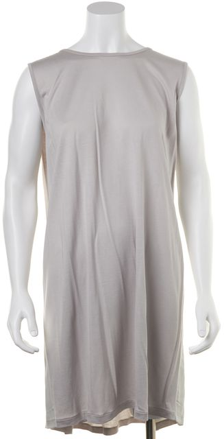 ALLSAINTS Gray Casual Relaxed Fit Sleeve-Less Knit Shift Dress
